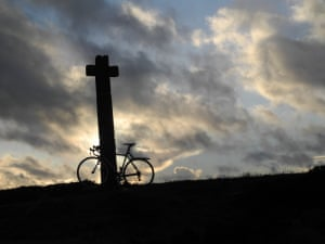 'Once you add in the variables of weather and company, there are an infinite number of great bike rides. Favourites are those you can actually do. This is Ralph's Cross on the North Yorkshire Moors on the shortest day. An hour from home (with a favourable wind) and some nice downhills on the way back.'