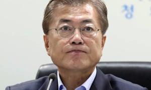 South Korea's president, Moon Jae-in.