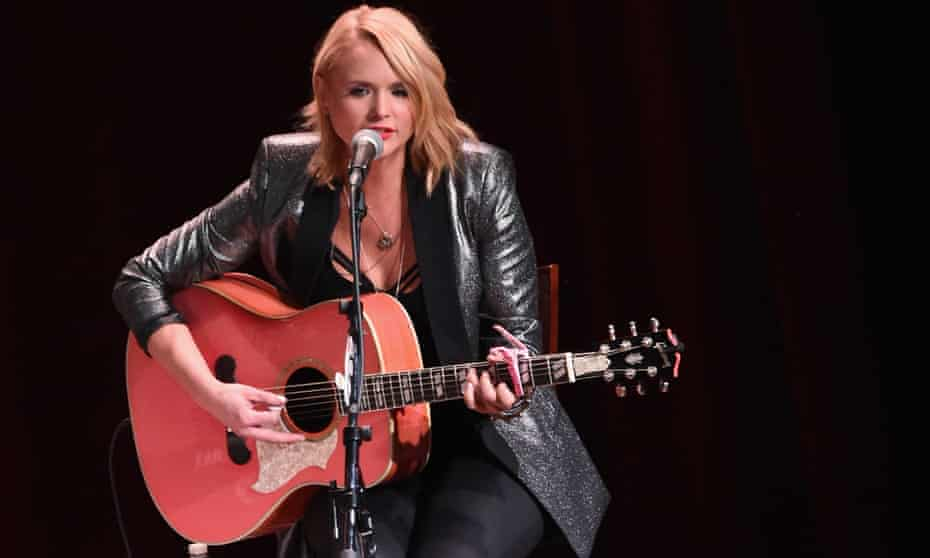 Not enjoying her salad days: Miranda Lambert performs in Nashville.