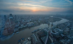 The view from the 67th floor of the Shard.