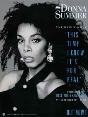 A Donna Summer promotional poster … by 1989, 'Produced by Stock, Aitken & Waterman' had become a selling point.