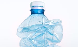 Crushed: single-use plastic bottles poison the environment.