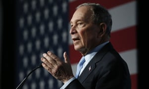 Mike Bloomberg speaks at a campaign event in Salt Lake City, Utah, on 20 February.