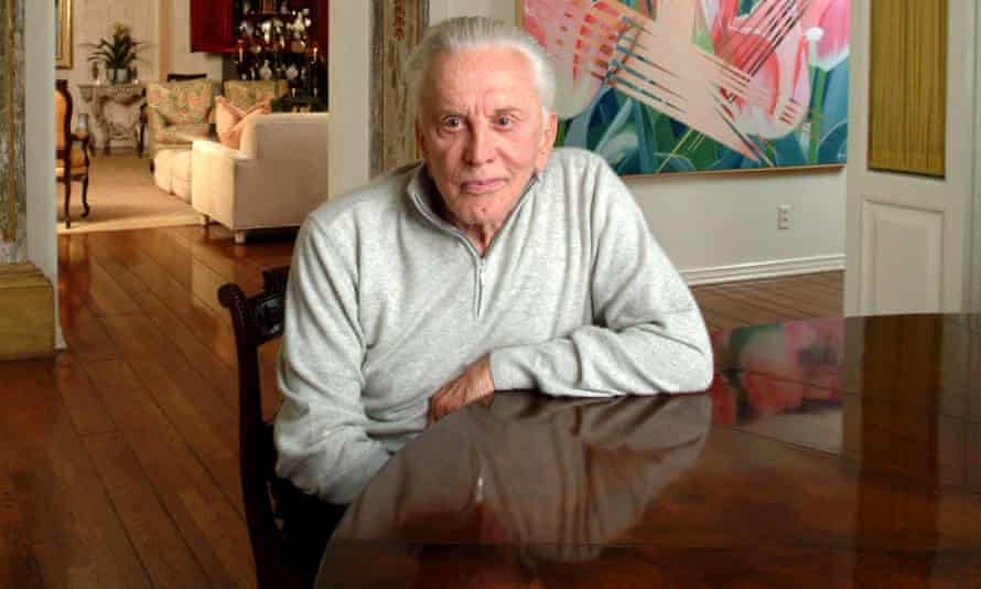 Kirk Douglas, actor, author photographed 4 March 2003 at his home in Beverly Hills, Los Angeles