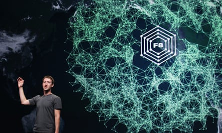 Facebook CEO Mark Zuckerberg delivers a keynote address. Six moderators were assessed as 'high priority' victims of a mistake that shared their personal details with extremist groups.