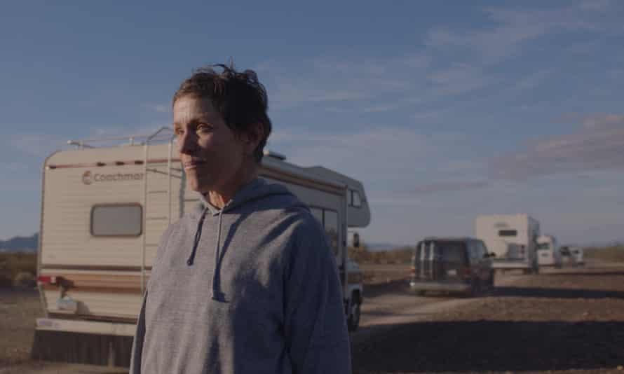 Just travellin' on… Frances McDormand in Nomadland.