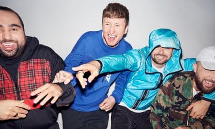 Chabuddy G (Asim Chaudhry), Steves (Steve Stamp), MC Grindah (Allan Mustafa) and DJ Beats (Hugo Chegwin)