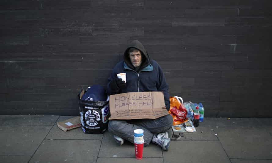 A man in Manchester appeals for help in January this year.