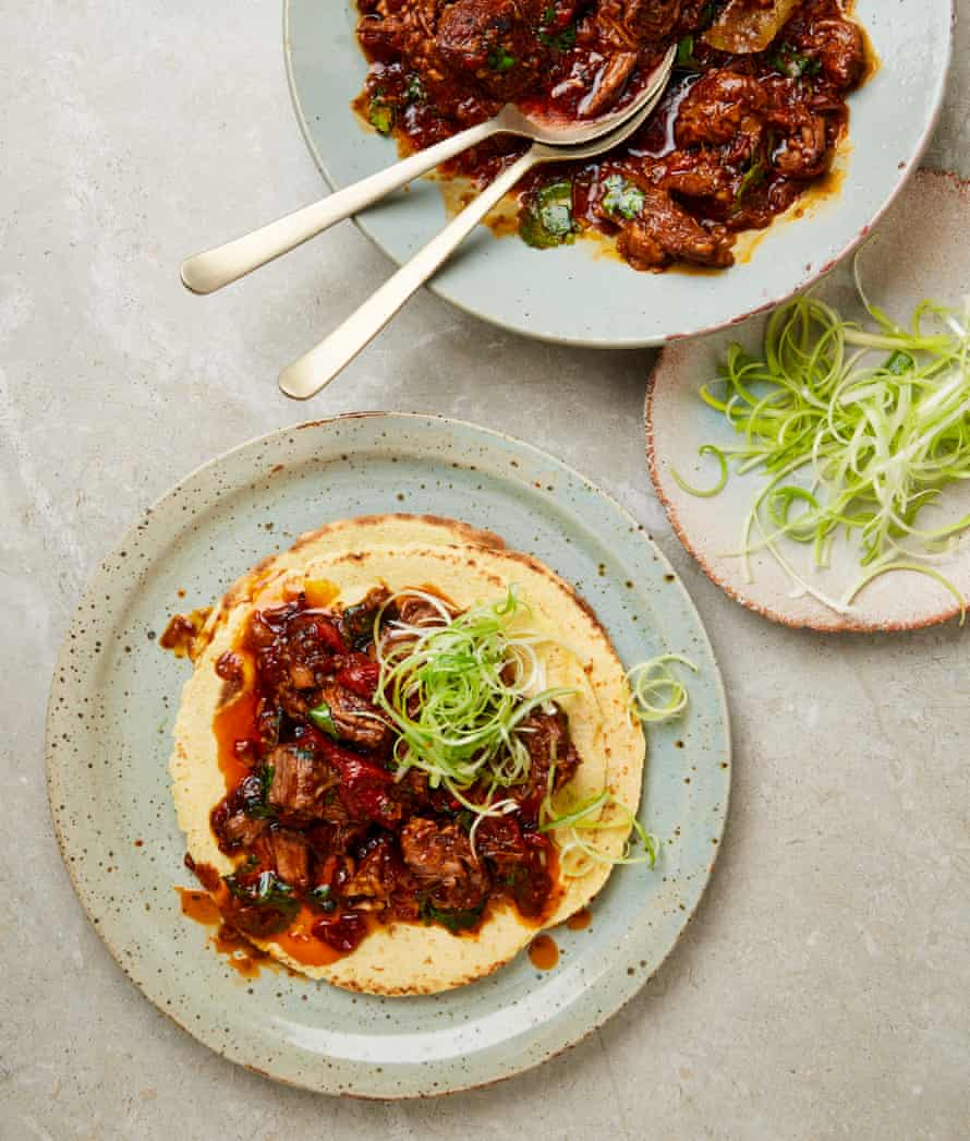 Yotam Ottolenghi's pulled lamb with orange and spices