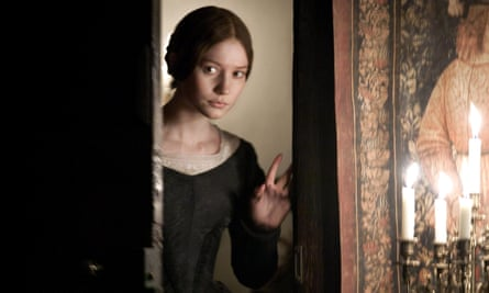 Mia Wasikowska as Jane Eyre.