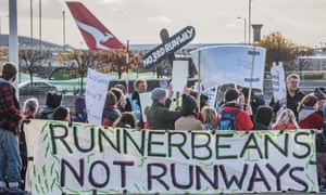 A protest against third runway at Heathrow