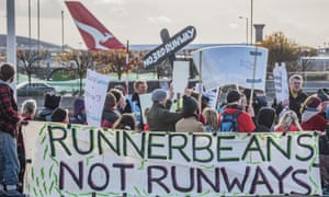 A November 2016 protest against a third runway at London's Heathrow airport