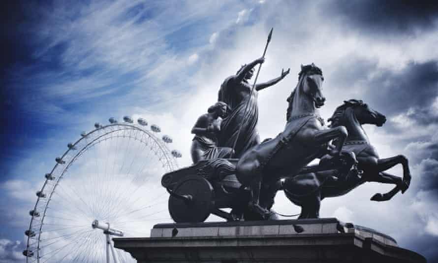Boudicca's statue in London.