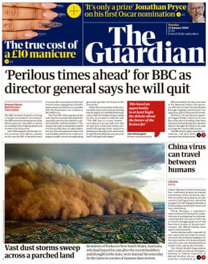 Guardian front page 21012020