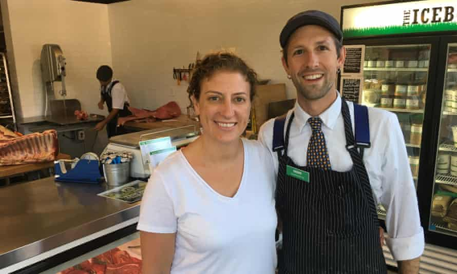 Monica and Aaron Rocchino, husband and wife and owners of The Local Butcher Shop.