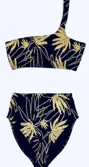 Leaf print bikini, £129, by Natasha Tonic