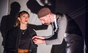 Shamira Turner and Tom Lyall in An Execution (By Invitation Only) at Camden People's Theatre, London.