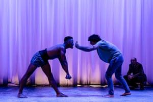 Ira Mandela Siobhan and Ethan Kai in Equus: