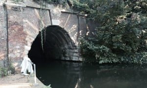 Islington tunnel on Regent's Canal in London.