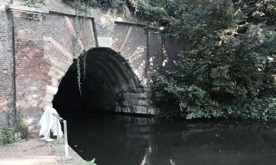 Islington tunnel on Regent's Canal in London.
