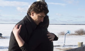 'What we need is a long-term approach and we will be there to help them to mourn and especially to help them through this difficult time,' Justin Trudeau said.
