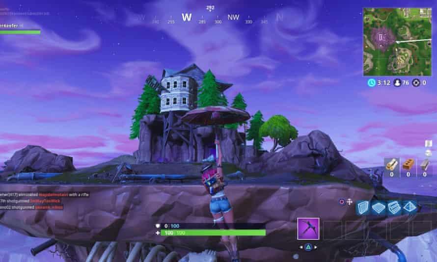 The floating Fortnite island