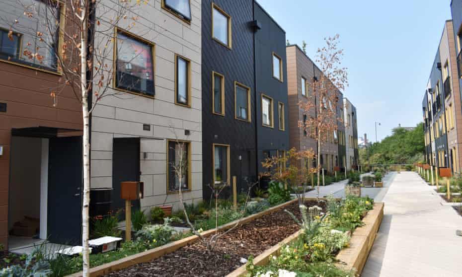 A row of terrace houses in Solar Avenue, Leeds
