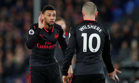 Arsenal's Francis Coquelin with Jack Wilshere, before the Frenchman's move to Valencia.