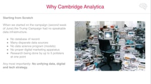 A sample of Cambridge Analytica's 'Trump for President' debrief