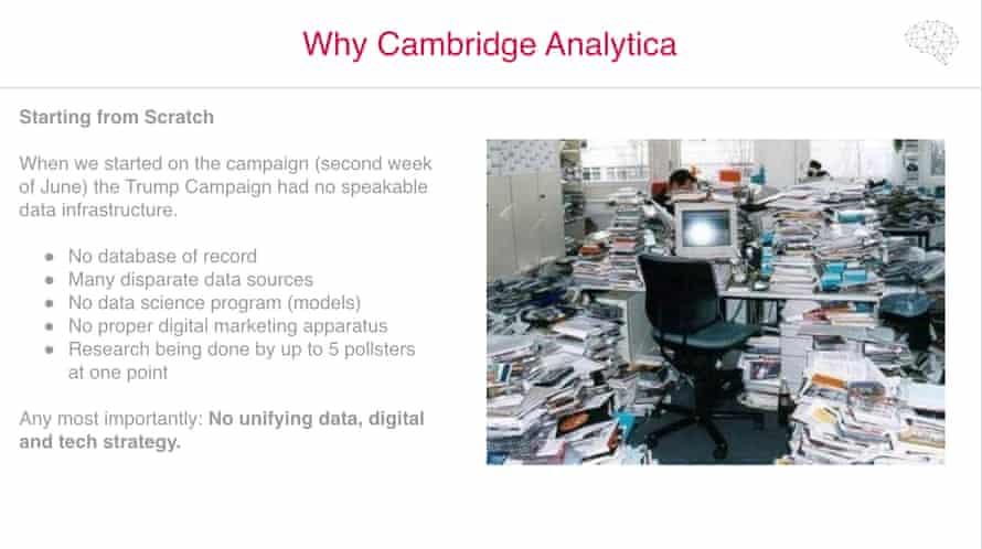 A sample of Cambridge Analytica's 'Trump for President' debrief