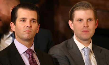 Trump sons provoke outrage with baseless attacks on Biden and lockdown