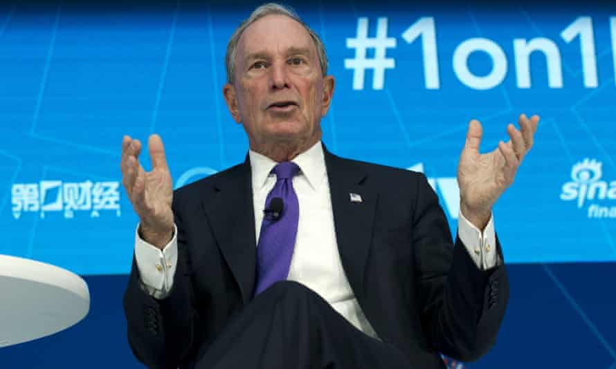 Bloomberg speaks in Washington, in his role as United Nations special envoy for climate action.