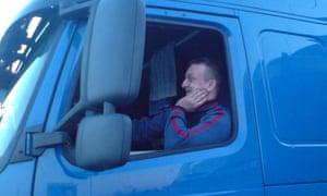 Polish lorry driver Łukasz Urban