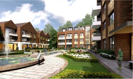 Artist's impression of L&G's Guild Living retirement village project