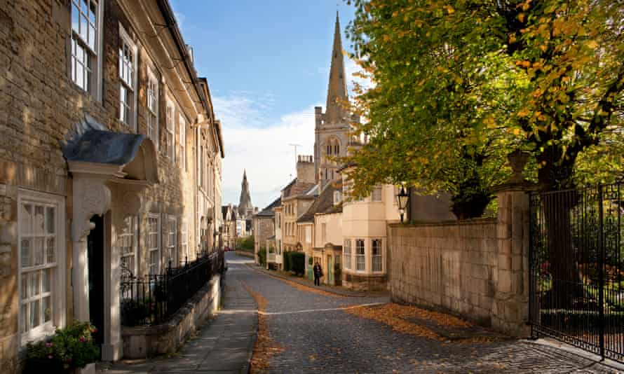 View down Barn Hill, Stamford, Lincolnshire