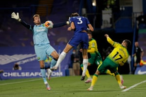 Alonso's header saved by Krul.