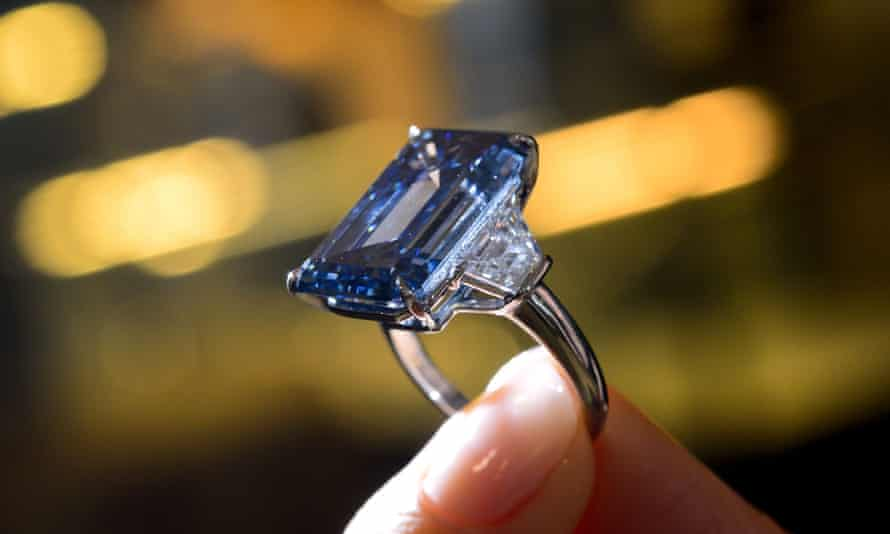 The Oppenheimer Blue fancy vivid blue diamond.
