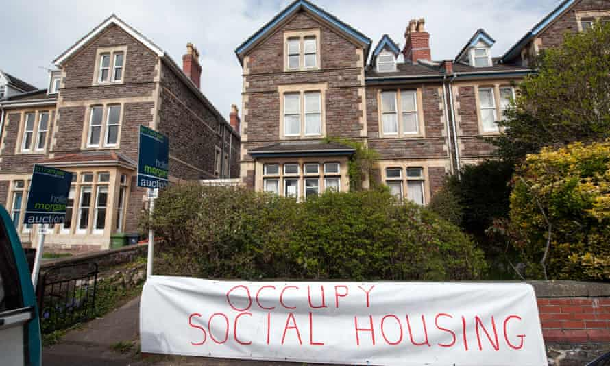 Protesters occupy a council house that is up for auction in Bristol