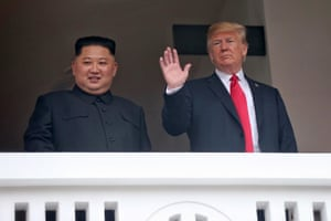 Trump and Kim at the veranda