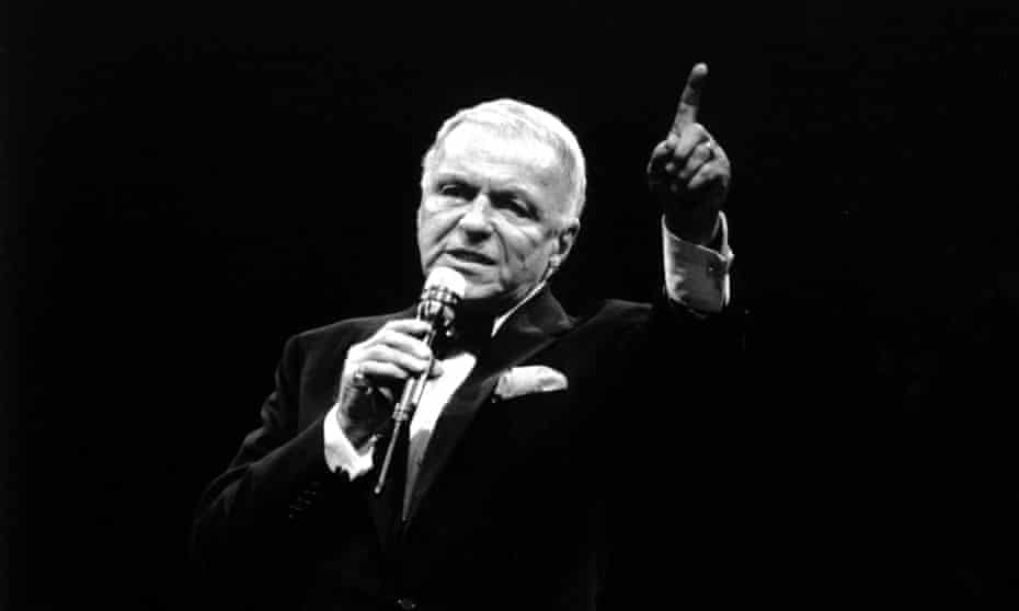 Frank Sinatra on stage at the Docklands Arena in London in 1990.