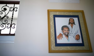 Also on display in the hallway is a painting of Carson with Jesus