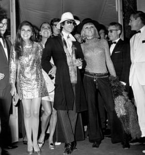 Pallenberg and Richards arrive for a showing of the Privilege during Cannes Film Festival, 1967.