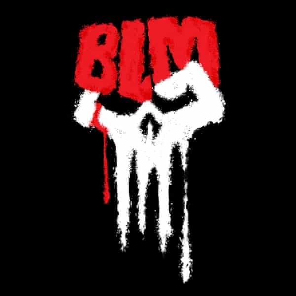 For the call put forth by Gerry Conway, this logo was created combining inspiration from the BLM movement, Black Power's solidarity fist and the Punisher skull.