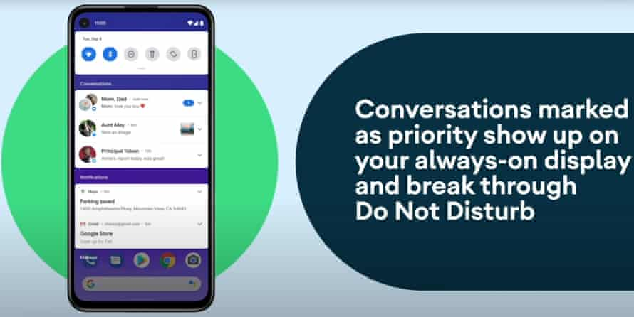 Conversations can be marked by priority and separated from the rest of your notifications.