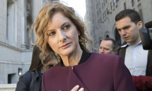 Summer Zervos leaves New York state appellate court in 2018.