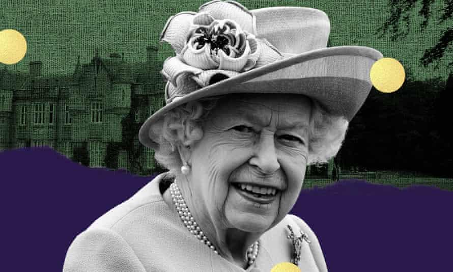 Graphic of Queen Elizabeth II and Balmoral Castle