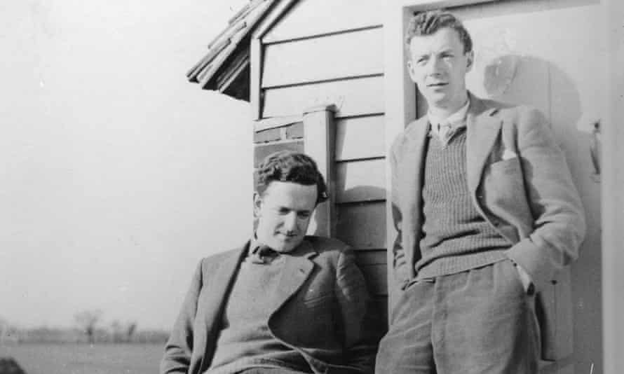 Benjamin Britten and Peter Pears at the Old Mill, Snape, in 1943.