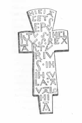 An image of the now lost cross.