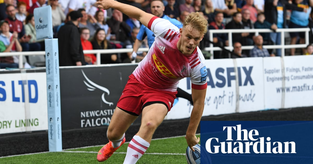 Louis Lynagh double leads champions Harlequins to opening win at Newcastle