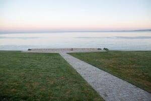 The empty Anzac Cove on the Gallipoli peninsula at dawn in Canakkale, Turkey.